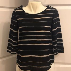 Stripped Express top with zippered back